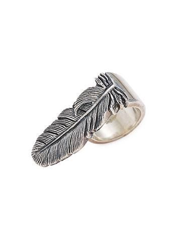 King Baby Studio Sterling Silver Raven Feather Ring
