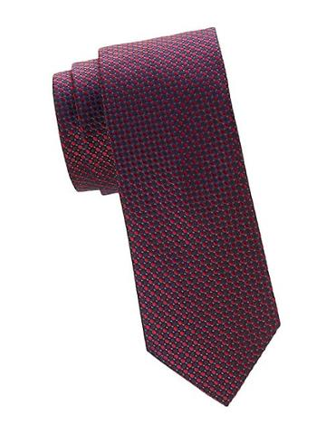 Saks Fifth Avenue Made In Italy Micro-dot Silk Tie
