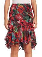 Jason Wu Ruffled Floral-print Chiffon Skirt