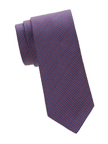 Saks Fifth Avenue Made In Italy Horizontal Stripe Silk Tie