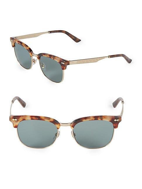 Gucci 54mm Clubmaster Sunglasses
