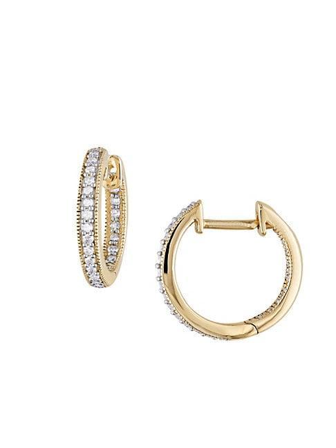 Sonatina 14k Yellow Gold & Diamond Hoop Earrings
