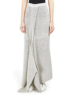 Stella Mccartney Waffle Knit Draped Maxi Skirt