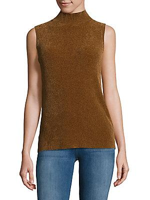 Lafayette 148 New York Sleeveless Mockneck Top