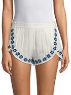 Raga Mancora Embroidered Shorts