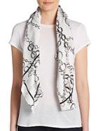 Saks Fifth Avenue Chain-print Silk Scarf