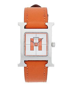 Herm S Vintage Orange/silver H Hourpm
