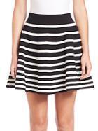 Milly Engineered Rib Skirt
