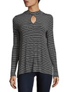 Philosophy Striped Mockneck Top