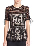 Parker Shannon Embroidered Top