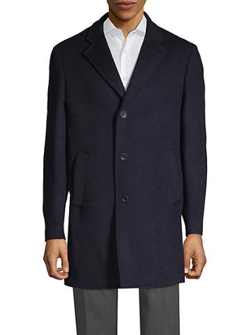 Saks Fifth Avenue Made In Italy Double-faced Wool-blend Coat