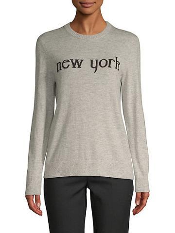 Saks Fifth Avenue Black Printed Long-sleeve Sweater