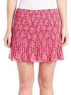 Diane Von Furstenberg Tayte Pleated Chiffon Skirt
