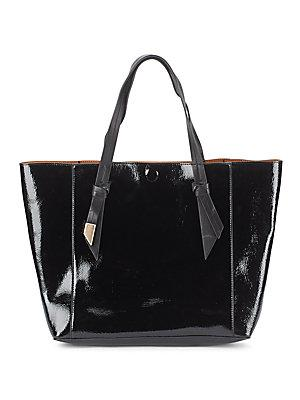 Foley + Corinna Ashlyn Patent Leather & Suede Reversible Tote