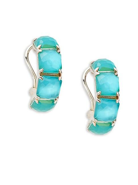 Ippolita Wonderland Sterling Silver & Clear Quartz Earrings