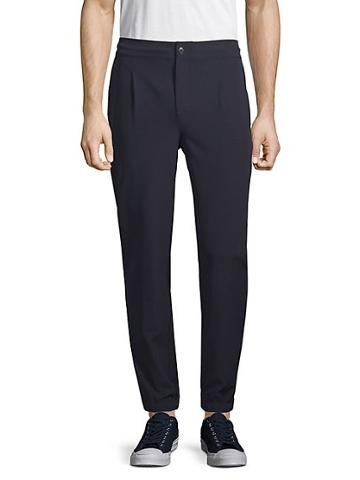 Pure Navy Tailored Drawstring Trousers