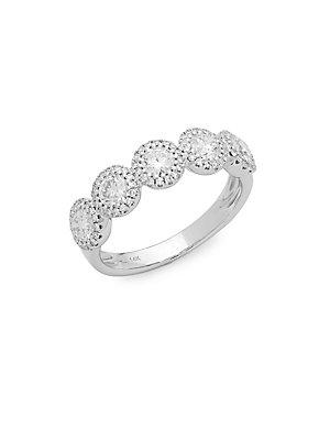 Diana M Jewels Bridal Diamond & 14k White Gold Band Ring