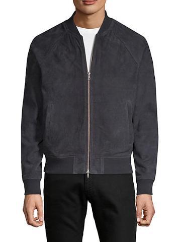 Saks Fifth Avenue Raglan-sleeve Suede Bomber Jacket