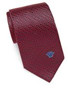 Versace Square-patterned Silk Tie