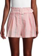 Parker Striped Cotton Shorts
