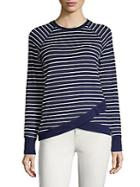 Per Se Striped Roundneck Top