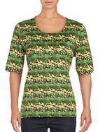 Akris Printed Roundneck T-shirt