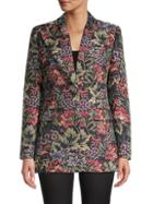 Michael Kors Collection Floral Tapestry Blazer