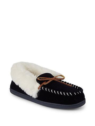 Saks Fifth Avenue Yuma Faux Fur Slippers