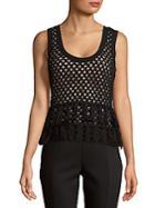 L'agence Leandra Cutout Sweater Tank Top