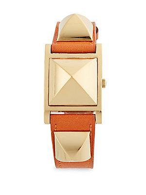 Herm S Vintage Orange/gold Swift Medor Watch
