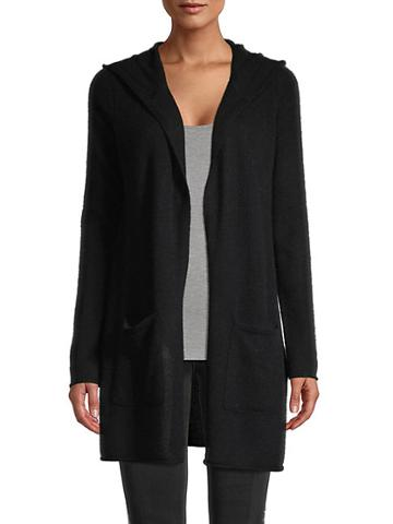 Saks Fifth Avenue Hooded Cashmere Cardigan Sweater