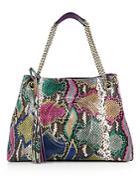 Gucci Soho Medium Python Tote Bag