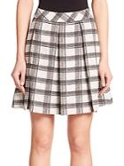Proenza Schouler Pleated Plaid Skirt