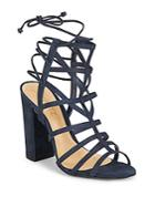 Schutz Leather Open Toe Cage Sandals