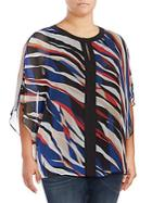 Vince Camuto Plus Printed Roundneck Top