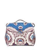 Valentino Floral-motif Leather Handbag
