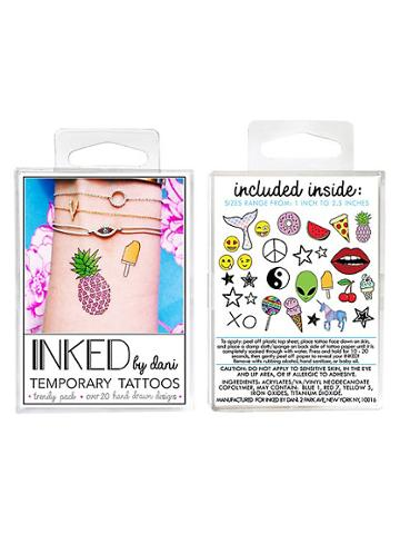 Inked By Dani Temporary Tattoos Trendy Pack