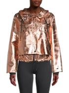 Dkny Sport Rosegold Hoodie Cropped Jacket