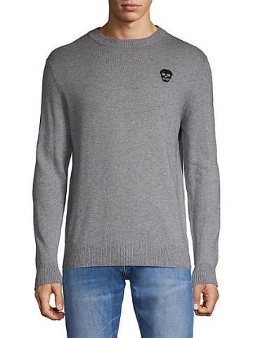 Saks Fifth Avenue Skull Cotton & Cashmere-blend Sweater