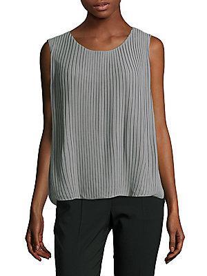 Calvin Klein Roundneck Buttoned Top