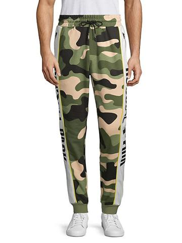 Russell Park Camouflage Cotton Blend Jogger Pants