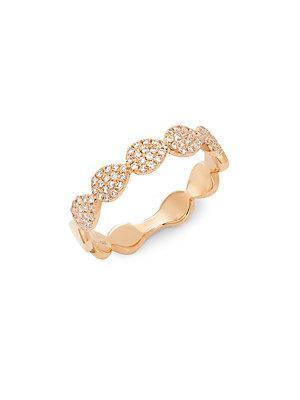Diana M Jewels Diamond & 14k Rose Gold Ring