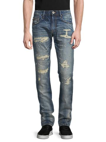 Cult Of Individuality Cotton Distressed Jeans