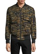 American Stitch Camouflage Bomber Jacket