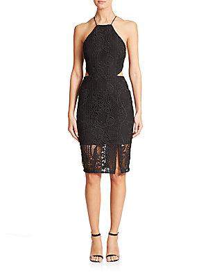 Nicholas Cutout Lace Sheath Dress
