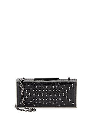 Stuart Weitzman Embossed Leather Convertible Clutch