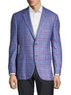Canali Silk & Cashmere Windowpane Jacket