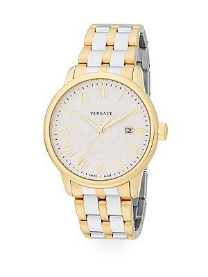 Versace Business Goldtone Stainless Steel Bracelet Watch