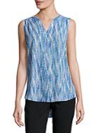 Nydj Sleeveless Pintuck Top