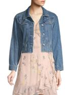 Paige Jeans Torri Cropped Frayed Denim Jacket